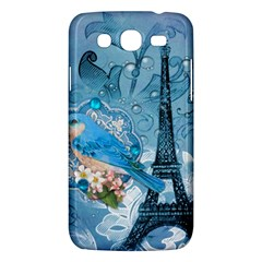 Girly Blue Bird Vintage Damask Floral Paris Eiffel Tower Samsung Galaxy Mega 5 8 I9152 Hardshell Case  by chicelegantboutique