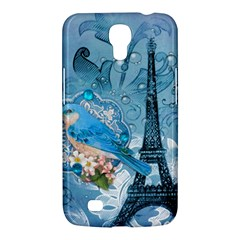 Girly Blue Bird Vintage Damask Floral Paris Eiffel Tower Samsung Galaxy Mega 6 3  I9200 by chicelegantboutique
