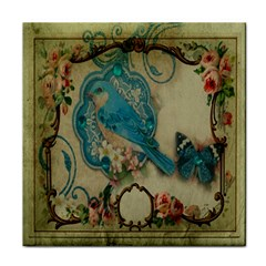 Victorian Girly Blue Bird Vintage Damask Floral Paris Eiffel Tower Face Towel by chicelegantboutique