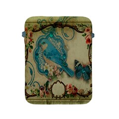 Victorian Girly Blue Bird Vintage Damask Floral Paris Eiffel Tower Apple Ipad 2/3/4 Protective Soft Case by chicelegantboutique