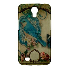 Victorian Girly Blue Bird Vintage Damask Floral Paris Eiffel Tower Samsung Galaxy Mega 6 3  I9200 by chicelegantboutique