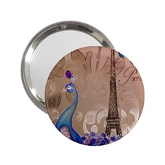 Modern Butterfly  Floral Paris Eiffel Tower Decor Handbag Mirror (2 25 ) by chicelegantboutique