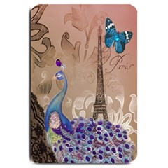 Modern Butterfly  Floral Paris Eiffel Tower Decor Large Door Mat by chicelegantboutique