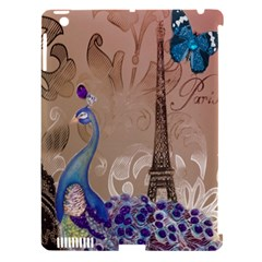 Modern Butterfly  Floral Paris Eiffel Tower Decor Apple Ipad 3/4 Hardshell Case (compatible With Smart Cover) by chicelegantboutique