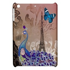 Modern Butterfly  Floral Paris Eiffel Tower Decor Apple Ipad Mini Hardshell Case by chicelegantboutique