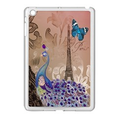 Modern Butterfly  Floral Paris Eiffel Tower Decor Apple Ipad Mini Case (white) by chicelegantboutique