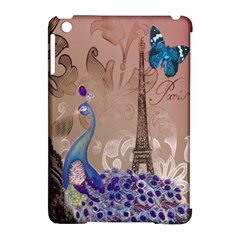 Modern Butterfly  Floral Paris Eiffel Tower Decor Apple Ipad Mini Hardshell Case (compatible With Smart Cover) by chicelegantboutique