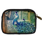 French Scripts Vintage Peacock Floral Paris Decor Digital Camera Leather Case Back