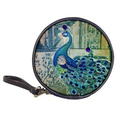 French Scripts Vintage Peacock Floral Paris Decor Cd Wallet by chicelegantboutique