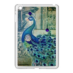 French Scripts Vintage Peacock Floral Paris Decor Apple Ipad Mini Case (white) by chicelegantboutique