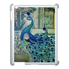 French Scripts Vintage Peacock Floral Paris Decor Apple Ipad 3/4 Case (white)