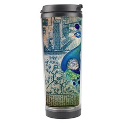 French Scripts Vintage Peacock Floral Paris Decor Travel Tumbler by chicelegantboutique