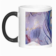 Peacock Feather White Rose Paris Eiffel Tower Morph Mug by chicelegantboutique