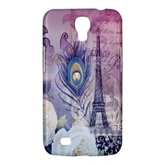 Peacock Feather White Rose Paris Eiffel Tower Samsung Galaxy Mega 6 3  I9200 by chicelegantboutique
