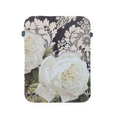 Elegant White Rose Vintage Damask Apple Ipad 2/3/4 Protective Soft Case