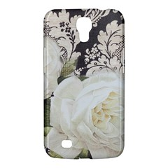 Elegant White Rose Vintage Damask Samsung Galaxy Mega 6 3  I9200 by chicelegantboutique