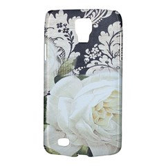 Elegant White Rose Vintage Damask Samsung Galaxy S4 Active (i9295) Hardshell Case by chicelegantboutique