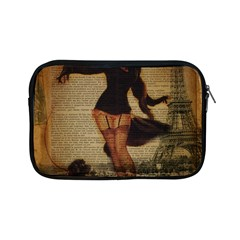 Paris Lady And French Poodle Vintage Newspaper Print Sexy Hot Gil Elvgren Pin Up Girl Paris Eiffel T Apple Ipad Mini Zipper Case by chicelegantboutique