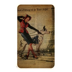 Paris Girl And Great Dane Vintage Newspaper Print Sexy Hot Gil Elvgren Pin Up Girl Paris Eiffel Towe Memory Card Reader (rectangular) by chicelegantboutique
