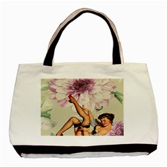 Gil Elvgren Pin Up Girl Purple Flower Fashion Art Classic Tote Bag