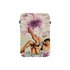 Gil Elvgren Pin Up Girl Purple Flower Fashion Art Apple Ipad Mini Protective Soft Case by chicelegantboutique