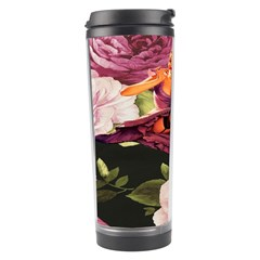 Cute Gil Elvgren Purple Dress Pin Up Girl Pink Rose Floral Art Travel Tumbler by chicelegantboutique