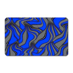 Foolish Movements Blue Magnet (rectangular) by ImpressiveMoments