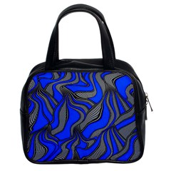 Foolish Movements Blue Classic Handbag (two Sides) by ImpressiveMoments