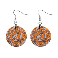 Foolish Movements Swirl Orange Mini Button Earrings by ImpressiveMoments