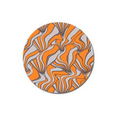 Foolish Movements Swirl Orange Magnet 3  (round) by ImpressiveMoments