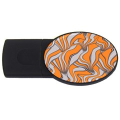 Foolish Movements Swirl Orange 2gb Usb Flash Drive (oval)