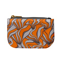 Foolish Movements Swirl Orange Coin Change Purse