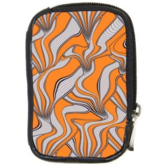 Foolish Movements Swirl Orange Compact Camera Leather Case by ImpressiveMoments