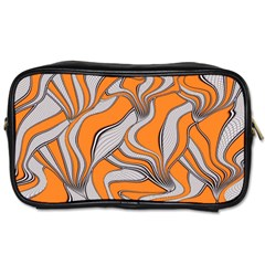 Foolish Movements Swirl Orange Travel Toiletry Bag (two Sides) by ImpressiveMoments