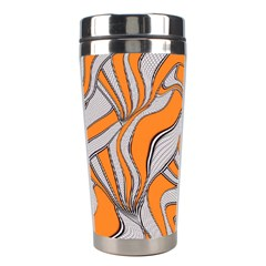 Foolish Movements Swirl Orange Stainless Steel Travel Tumbler by ImpressiveMoments