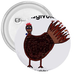 Turkey 3  Button by Thanksgivukkah