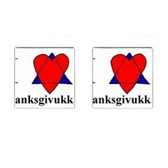 Heartstar Cufflinks (square) by Thanksgivukkah