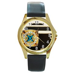 Kodak (7)c Round Metal Watch (gold Rim)  by KellyHazel