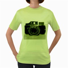 Hit Camera (3) Womens  T Shirt (green)