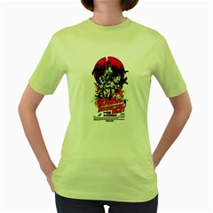 Zombie Destruction Night Womens  T Shirt (green) by Contest1741083