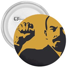 Power With Lenin 3  Button by youshidesign