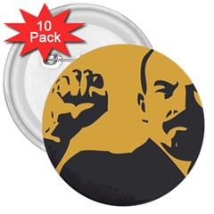 Power With Lenin 3  Button (10 Pack) by youshidesign