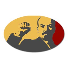 Power With Lenin Magnet (oval) by youshidesign