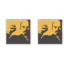 Power With Lenin Cufflinks (square) by youshidesign