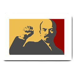Power With Lenin Large Door Mat by youshidesign