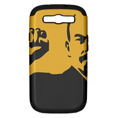 Power With Lenin Samsung Galaxy S Iii Hardshell Case (pc+silicone) by youshidesign