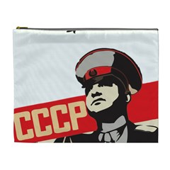 Soviet Red Army Cosmetic Bag (xl) by youshidesign