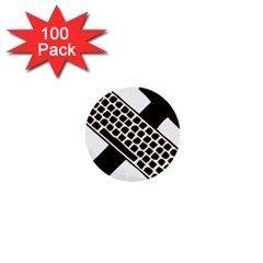 Hammer And Keyboard  1  Mini Button (100 Pack)