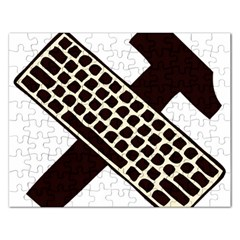 Hammer And Keyboard  Jigsaw Puzzle (rectangle)