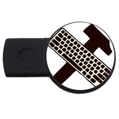 Hammer And Keyboard  4gb Usb Flash Drive (round) by youshidesign